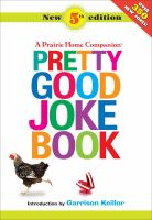 Book cover for the Pretty Good Joke Book