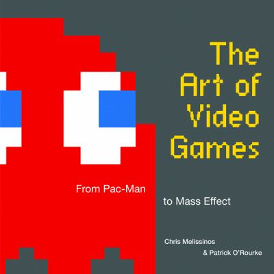 A book cover with an image of the red ghost from Pacman. The title text is yellow.