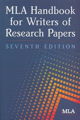 cover of MLA Handbook for Writers of Research Papers. 7th ed.