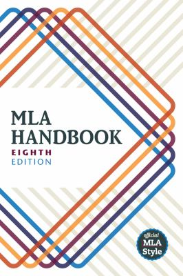 image of MLA Handbook 8th edition book cover