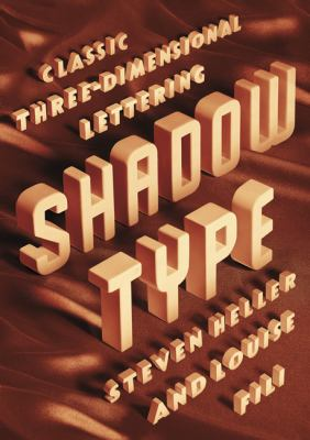 A book cover with 3D tan-colored type.