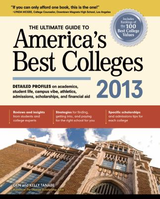 The Ultimate Guide to America's Best Colleges 2013 Cover Art