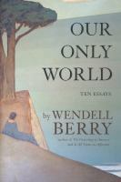 """Our Only World"" Book Cover"
