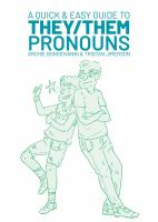 """Book Cover for """"A Quick and Easy Guide to They/Them Pronouns"""""""