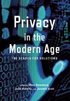 Book cover for Privacy in the Modern Age