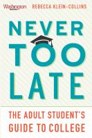 book cover: Never Too Late