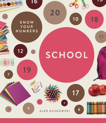 Cover Art features school items along with colorful circles and numbers.