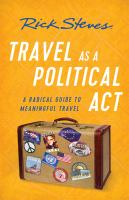 Travel as a Political Act book cover