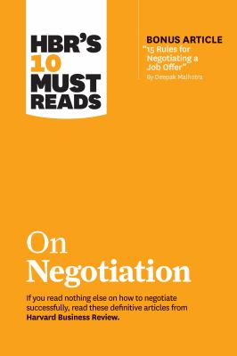 HBR's 10 Must Reads On Negotiation - Opens in a new window