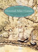 Historical Atlas of Canada book cover