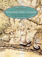 Historical Atlas of Canada book cover