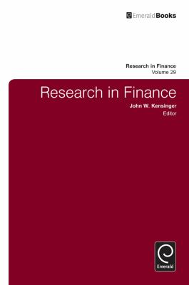 Front cover art for the book Research in Finance by John W. Kensinger (Editor, Series edited by).