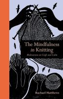 book cover: mindfulness in knitting