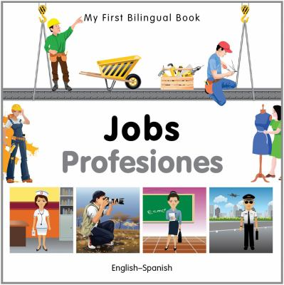 Cover Art features colorful pictures of people working different jobs,