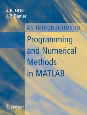 book cover: An Introduction to Programming and Numerical Methods in MATLAB