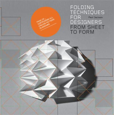A book cover with an image of an abstract folded paper shape. The title text is gray and black on a gray background.