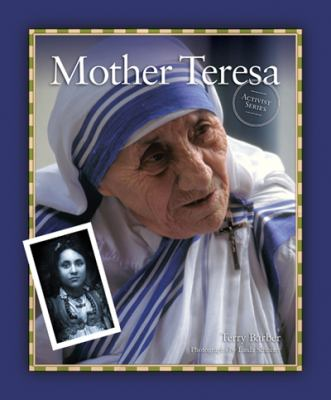 Cover Art featuring a purple border with a large picture of Mother Teresa, with a smaller picture of her on the lefthand side.