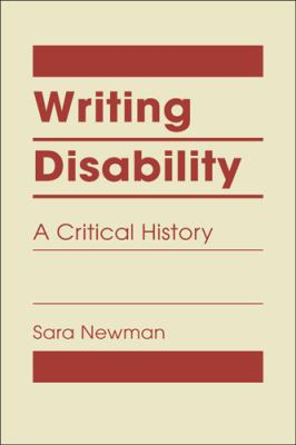 Book cover for Writing Disability. Red text on tan background.