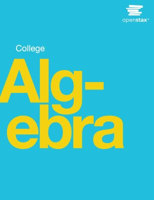 book cover College Algebra