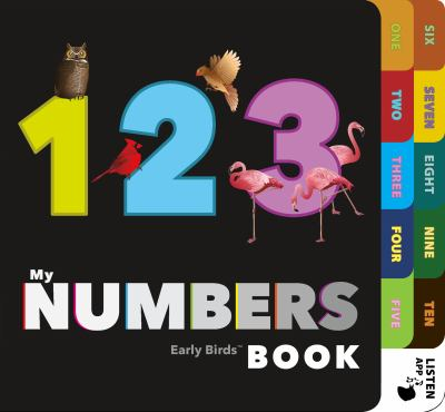 Cover Art features a black background with the numbers one, two, three.