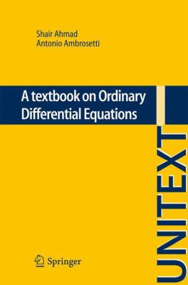 book cover - A Textbook on Ordinary Differential Equations
