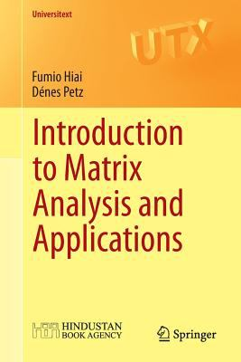book cover: Introduction to Matrix Analysis and Applications