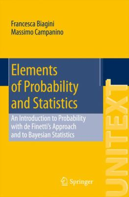 book cover: Elements of Probability and Statistics