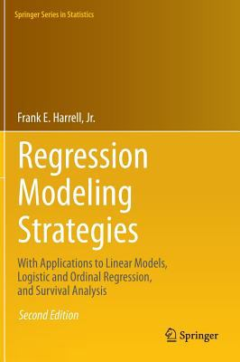 book cover: Regression Modeling Strategies