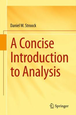 book cover: A Concise Introduction to Analysis