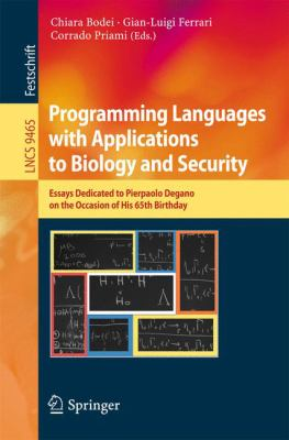 book cover: Programming Languages with Applications to Biology and Security