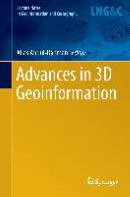Book Cover : Advances in 3D Geoinformation