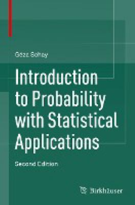 book cover: Introduction to Probability with Statistical Applications