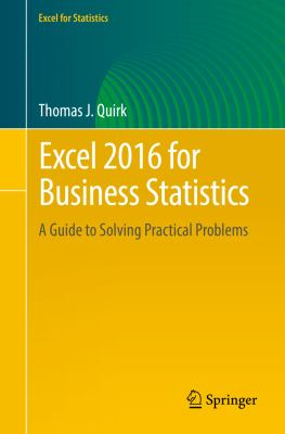 book cover: Excel 2016 for Business Statistics