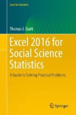book cover: Excel 2016 for Social Science Statistics
