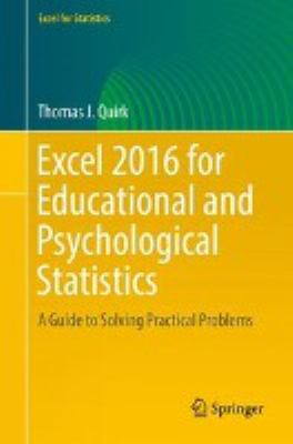 book cover: Excel 2016 for Educational and Psychological Statistics
