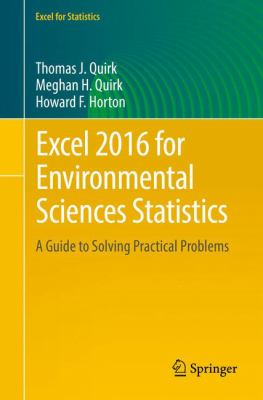 book cover: Excel 2016 for Environmental Sciences Statistics