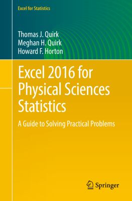 book cover: Excel 2016 for Physical Sciences Statistics