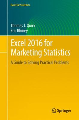 book cover: Excel 2016 for Marketing Statistics