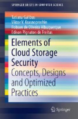 book cover: Elements of Cloud Storage Security