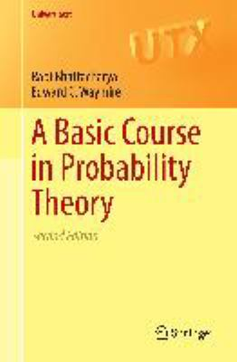 book covers: A Basic Course in Probability Theory (2016)