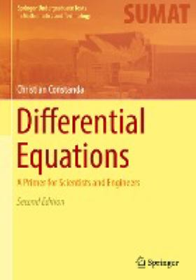 book cover: Differential Equations: a primer for scientists and engineers (2017)