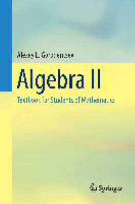 book cover: Algebra II: textbook for students of mathematics