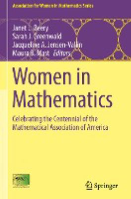 book cover: Women in Mathematics:  celebrating the centennial of the Mathematical Association of America