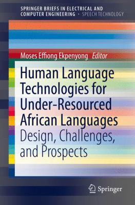 book cover: Human Language Technologies for under-Resourced African Languages
