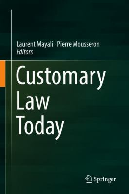Customary Law Today book cover