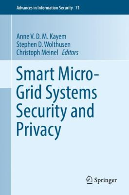 book cover:  Smart Micro-Grid Systems Security and Privacy