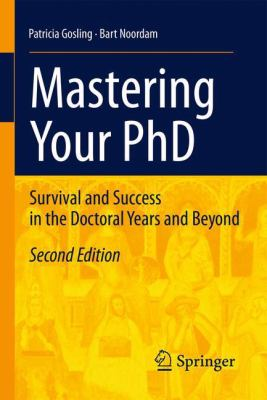 Cover of book Mastering your PhD.Link to catalogue entry for the book