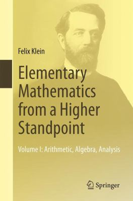 book cover: Elementary Mathematics from a Higher Standpoint