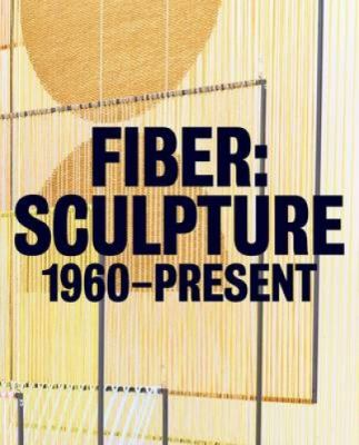 A book cover with an image of orange loomed fibers. The title text is bold, black ser over the image.