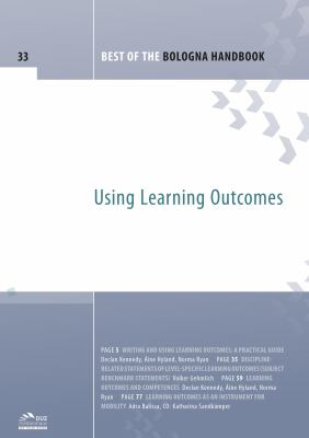 Best of the Bologna handbook - volume 33 : using learning outcomes